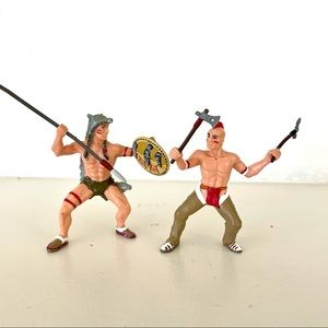 Papo toys Indian fighters set of 2 1999